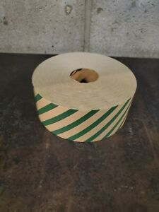 Gummed Tape Non Reinforced Solid Color 10 Cs Green Stripes 45 00 Cs