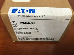 Eaton Egb2020ffb Circuit Breaker 2p 20a 480v New In Box
