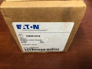 Eaton Egb3015ffb Circuit Breaker 3p 15a 480v New In Box