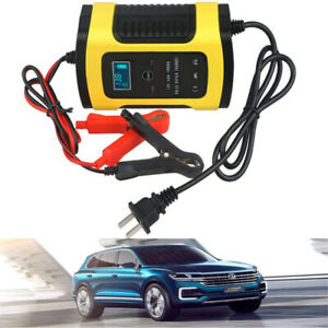 Car Battery Charger 110v To 220v To 12v 6a Lcd For Auto Motorcycle Lead Acid Rf
