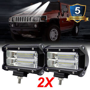 480w 2pcs 5 Inch Cree Led Work Lights Pod Spot Flood Combo Offroad Driving Light