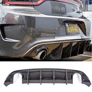 New Rear Bumper Diffuser Fits 15 19 Dodge Charger Daytona Carbon Fiber Style