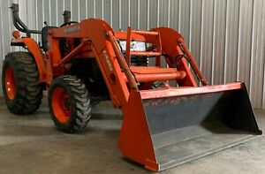 28 Hp Kubota L2800 Diesel 4x4 Loader Tractor 4wd Ie L3200 Hst Hydrostatic Front
