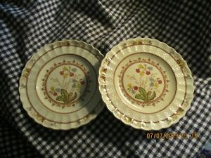 Spode Copeland Spode S Cowslip Set Of Two 2 Lunch Plates 7 3 4 Antique