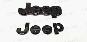 Custom Gloss Black Front Rear Emblem Badge For 2014 2020 Jeep Grand Cherokee