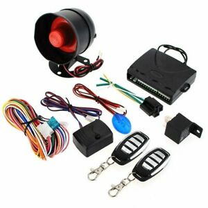 Car Central Door Lock Keyless Siren Entry System Remote Control Kit 1 Way Alarm
