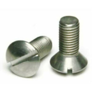 5 16 24 X 3 4 18 8 Stainlesssteel Slotted Oval Head Machine Screw Select Qty