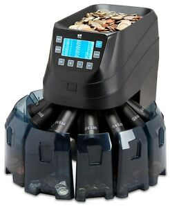 Coin Counter Sorter Money Machine Cash Counting Currency Electric Digital Cs50