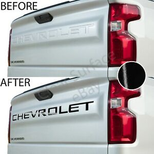 Tailgate Vinyl Decal Inserts Letters Fits Chevy Silverado 2019 2020 Gloss