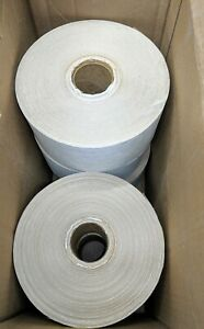 Gum Tape Reinforced 3 X 450 Water Activated Kraft Paper White Tape Rolls Qty 5