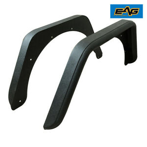 Eag Rear Fender Flares With Hardware Armor Black 3 Fit 87 95 Jeep Wrangler Yj