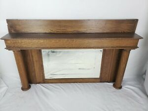Antique Mirror Over Mantle Mirror Solid Oak Solid Oak Fireplac