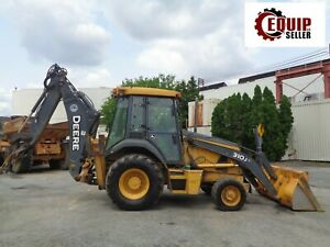 2011 John Deere 310j Backhoe Diesel Enclosed Cab Extendahoe