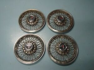 Set 4 Factory Oem Gm Wire Wheel Rim Hub Cap Hubcap 1982 1987 Pontiac Firebird