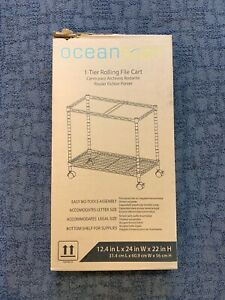 Oceanstar Portable Metal Rolling File Cart
