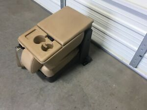 2011 2016 Ford F250 F350 F450 Super Duty Center Console Tan Leather Jump Seat