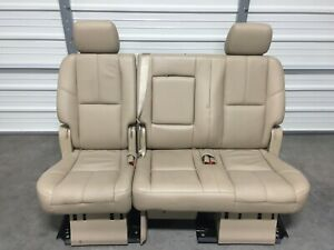 2007 2014 Suburban Escalade Esv Yukon Xl 2nd Second Row Tan Cashmere Bench Seat
