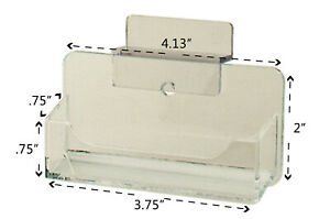 Business Card Holder Slatwall Clear Plastic Display Stand Desk Rack Qty 12