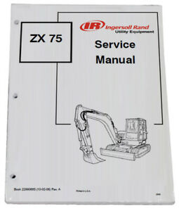 Bobcat Zx75 Compact Excavator Service Manual Shop Repair Book Part 22990683