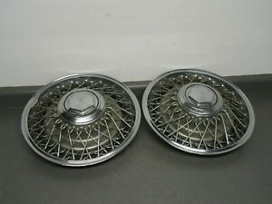 Lot 2 Factory Oem Mopar 15 Wire Wheel Rim Hub Cap Hubcap 1979 1989 Chrysler