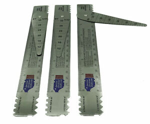 Drill Pipe Connection Thread Identification Ruler With Nozzle Gauge 3