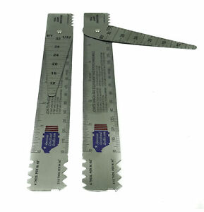 Drill Pipe Connection Thread Identification Ruler With Nozzle Gauge 2