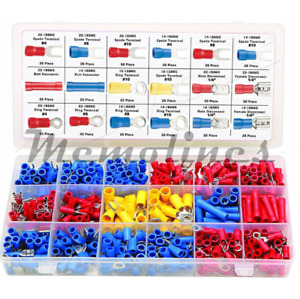 520pcs Assorted Crimp Spade Terminal Insulated Electrical Wire Connector Kit Set
