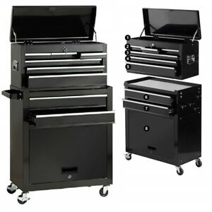 Rolling Tool Chest Cabinet Portable Toolbox Organizer Roller Storage Cart Steel