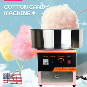 Electric Commercial Cotton Candy Machine Sugar Floss Maker Party Tool Easy Use