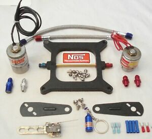 Nos Cheater Nitrous Plate Solenoid Kit 50 250hp For 4150 Style Carbs