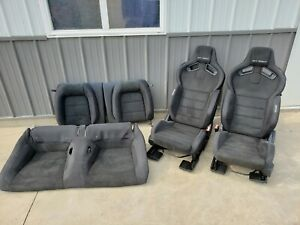 2016 2018 Ford Mustang Gt350 Black Leather Suede Front rear Seats Recaro Oem
