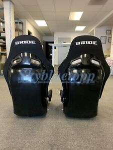 2 Seats Bride Zieg Black Cloth Frp Fiberglass Seats Low Max Jdm Bucket Vios