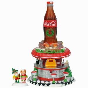 Dept 56 Coca Cola Soda Fountain North Pole Village plus Figures 6002293 RETIRED