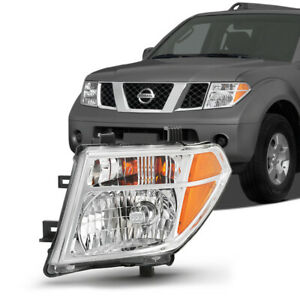 Left Driver Side Chrome Headlight For 05 08 Nissan Frontier 05 07 Pathfinder