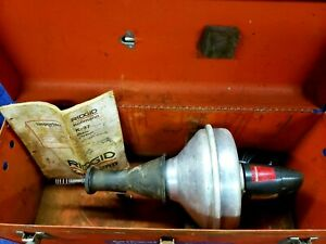Ridgid Pipe And Drain Cleaner With Old School Metal Drum rare K 37