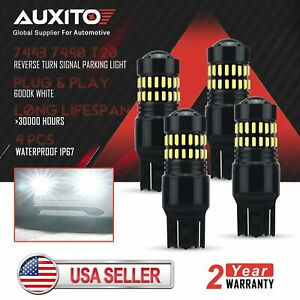 4x Auxito 7443 7440 48smd Led Back Up Reverse Light Bulbs Super Bright 6000k