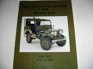 Vintage Willys M38 Military Jeep G740 M38 Reference Guide New