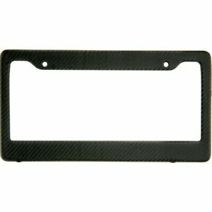 Matte Black Carbon Fiber License Plate Frame Tag Cover Ff C W Matching Screw