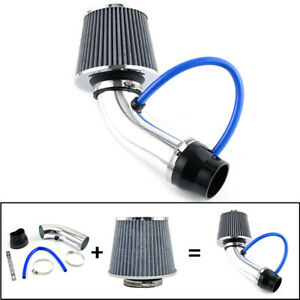 3 Aluminum Universal Car Cold Air Intake Filter Induction Pipe Hose System Kit
