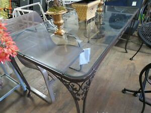 Vintage Woodard Acorn Pattern Wrought Iron Dining Table