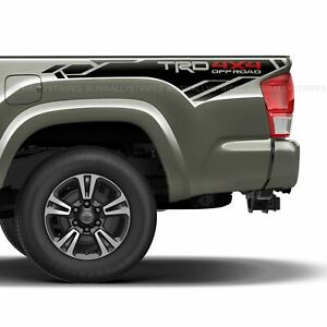 Set Of 2 Trd 4x4 Off Road Bedside Vinyl Decal Fits 2013 2020 Toyota Tacoma