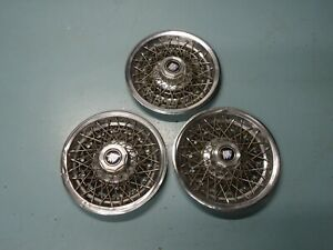 Lot 3 Factory Oem Gm Wire Wheel Rim Hub Cap Hubcap 1980 87 Buick Regal Century