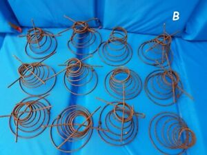 Lot Of 12 Antique Rusty Tornado Shape Bed Springs Coils Crafts Shabby Diy