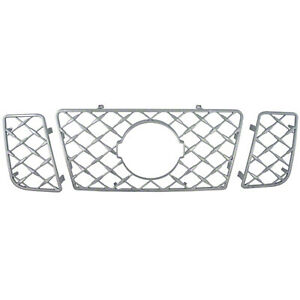 New 3 Piece Chrome Grille Grill Overlay Insert For 2008 2015 Nissan Titan Se Le