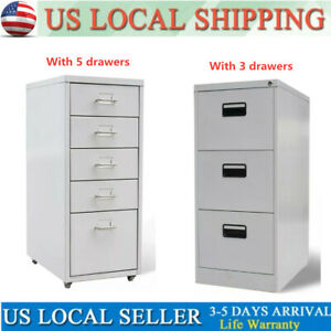 Quality Practical Office File Cabinet With 5 3 Drawers With Castors Gray 27