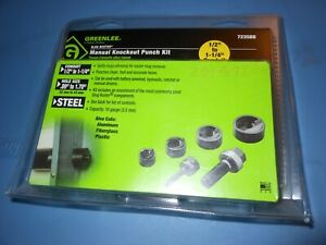 New Greenlee 7235bb Slug Buster Manual Knockout Punch Kit Set Slugbuster