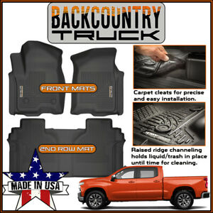 Backcountrytruck Floor Mats Liners 2019 2020 Chevy New Silverado 1500 Crew Cab