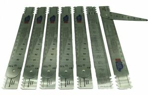 Drill Pipe Connection Thread Identification Ruler With Nozzle Gauge 7