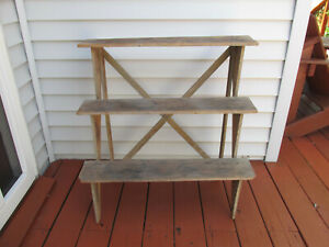 Primitive Stand Road Side Or Country Store Antique Country Canned Produce