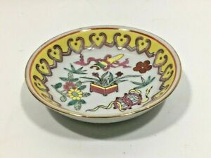 Old Chinese Dipping Bowl Soy Wasabi Bowl Enamel Hand Painted